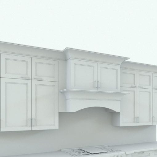 Revit Family / 3D Model - Traditional Kitchen With Island Fan Hood