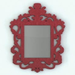 Revit Family / 3D Model - Wall Modern Baroque Frame Color Rendered in Revit