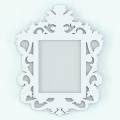 Revit Family / 3D Model - Wall Modern Baroque Frame Perspective