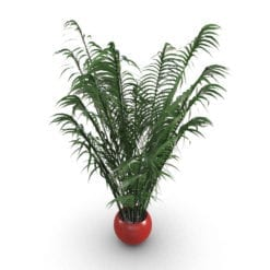 Revit Family / 3D Model - Areca Palm Rendered in 3D Max with Vray