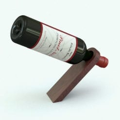 Revit Family / 3D Model - Balancing Wine Holder Rendered in Revit