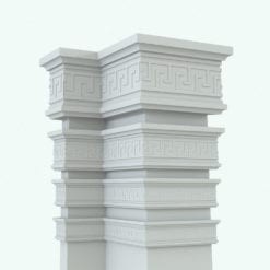 Revit Family / 3D Model - Complex Crown Moulding 4 Variations