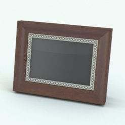 Revit Family / 3D Model - Picture Frame With Detail Dots Rendered in Revit