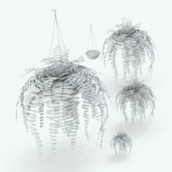 Revit Family / 3D Model - Hanging Fern 2 Variations