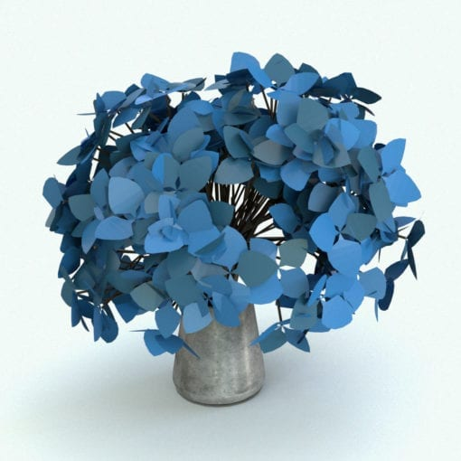Revit Family / 3D Model - Hydrangea Flowers Rendered in Revit