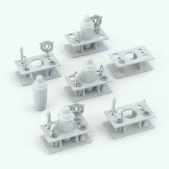 Revit Family / 3D Model - Martini Set Variations