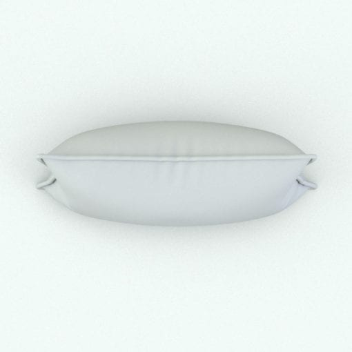Revit Family / 3D Model - Rectangular Cushion With Piping Top View