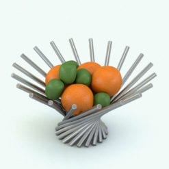 Revit Family / 3D Model - Rotation Fruit Bowl Rendered in Revit