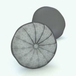 Revit Family / 3D Model - Round Cushion Folded Rendered in Revit
