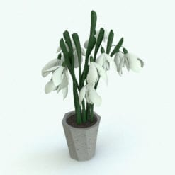 Revit Family / 3D Model - Snowdrop Rendered in Revit