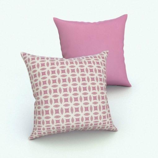 Revit Family / 3D Model - Square Cushion Euro Pillow Rendered in Revit