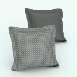 Revit Family / 3D Model - Square Cushion Flaps Rendered in Revit