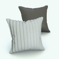 Revit Family / 3D Model - Square Cushion Folded Rendered in Revit