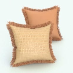 Revit Family / 3D Model - Square Cushion Fringe Rendered in Revit