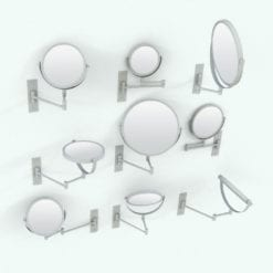 Revit Family / 3D Model - Swivel Wall Mount Mirror Variations