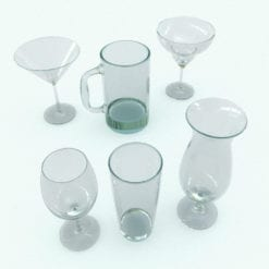 Revit Family / 3D Model - Wine Glasses Rendered in Revit