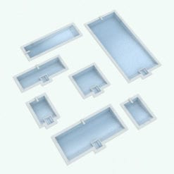 Revit Family / 3D Model - Rectangular Pool With Hot Tub Variations