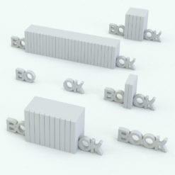 Revit Family / 3D Model - BO-OK Bookends Variations