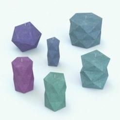 Revit Family / 3D Model - Geometric Candles Rendered in Revit