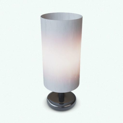 Revit Family / 3D Model - Contemporary Cylindrical Table Lamp Rendered in Vray