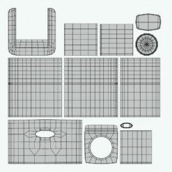 Revit Family / 3D Model - Cubic Coffee Station UV's 3